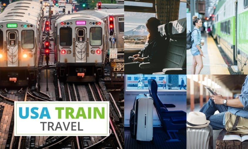Information on how to travel by train in the USA.