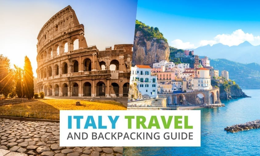 A collection of Italy travel and backpacking resources including Italy travel, entry visa requirements, employment for backpackers, and Italian phrasebook.