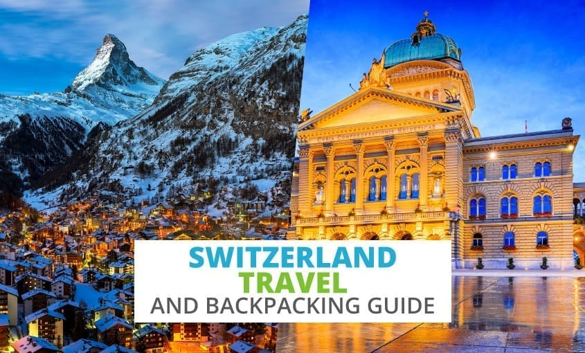 A collection of Switzerland travel and backpacking resources including Switzerland travel, entry visa requirements, employment for backpackers, and German phrasebook.